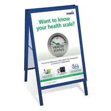 A1 BLUE A-BOARD PAVEMENT SIGN POSTER SNAP FRAME DOUBLE SIDE SIGN DISPLAY STANDS