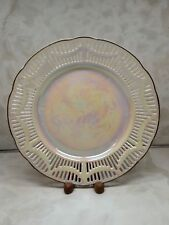Retsch & Co RCW Bavaria Iridescent Lace Plate Luster Ware Germany 10""