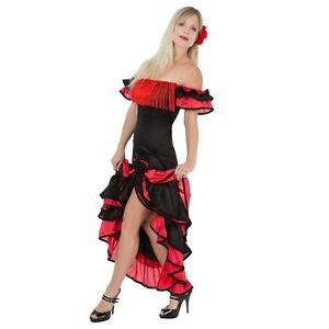 Ladies Spanish Rumba Senorita Salsa Flamenco Fiesta Carnival Fancy Dress Costume