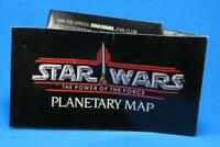 Vintage Star Wars Planetary Map! Tatooine 1985 Power of the Force