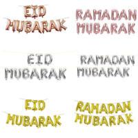 16'' Ramadan Eid Mubarak Foil Letter Balloons Banner String Party Decor AU RR