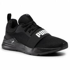 Scarpe da Ginnastica Puma Wired Run Sneakers Uomo Ragazzo Nero Logo Bianco Black