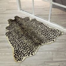 Animal Printed Leopard Zebra Cow Hide Faux Fur Rug Carpet Blanket Mat Washable