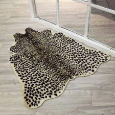 Animal Printed  Leopard Zebra Cow Hide Faux Fur Rug Carpet Blanket Washable