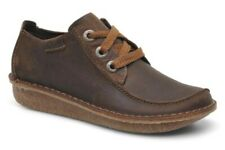 Clarks BNIB Ladies Lace-up Shoes FUNNY DREAM Brown Leather UK 4.5 / 37.5