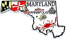 Maryland 4 Color State Souvenir Fridge Magnet
