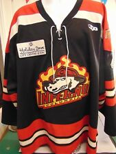 Greg Amado 2004-2005 COLUMBIA INFERNO Road Hockey Jersey, ECHL, #4 GAME WORN