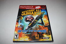 Destroy All Humans! Sony Playstation 2 PS2 Video Game New Sealed