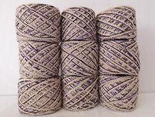 Wolle Knäuel 900gr 100gr 1,30€ hellbeige-lila Knäuel-Hand-für Decken-Kissen