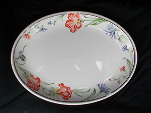 Churchill Hotelware Vitrified Floral Oval Meat Plate Diameter 12 inches