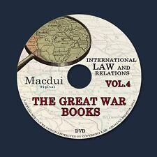 The Great War books Vol.4 WW1 International Law 50 PDF EBooks on 1 DVD World War