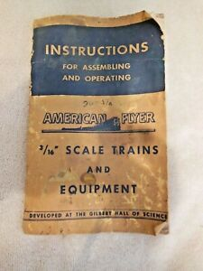 """Model Railroad-American Flyer """"How To"""" Instruction Booklet-3/16"""" Scale-1949 Ed"""