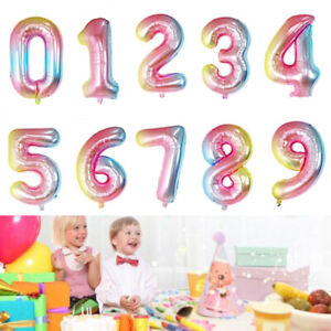 LETTER Foil Number Balloons Air Baloons Large Happy Birthday Party Ballons UK