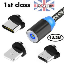 3 in 1 Magnetic Fast Charging USB Cable Charger Phone USB-C Micro USB iPhone