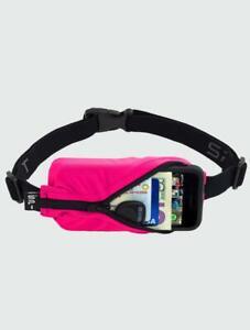 SPIbelt Running Belt Non Bounce Expandable Pocket Choice Of Coloured Pockets (Bl