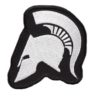 Spartan Helmet Profile Cut-Out Patch, Malone Labe Patches