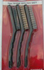 3 Wire Brush Cleaning Set - Large Steel, Large Plastic Nylon,Large Brass Brushes