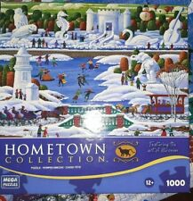 "Heronim Hometown Jigsaw Puzzle 1000 Piece ""Wisconsin Snow Sculpture"""