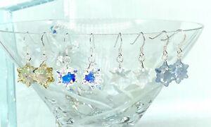 Swarovski Crystal Snowflake Earring - Christmas Holidays Earring Edelweiss