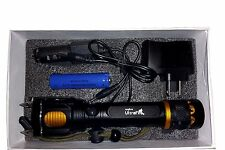 Ultrafire Military Grade Tactical Flashlight Attack Head Alarm 2000 1300TL Style