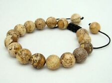 Gemstone Shambhala bracelet all 10mm Natural Picture Jasper Gems Round Beads