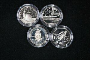 4 US Commemorative Half Dollar Proofs 1988,1989, 1992, 1994  99c NO RESERVE