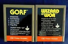 Atari 2600 Game Cartridge Lot Of 2 CBS Video Games Gorf & Wizard Of Wor