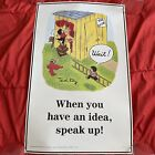 Vintage Ted Key Positive Attitude Poster Have an Idea Speak Up 1990 Classroom