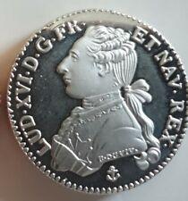 Reproduction d'un écu d'argent Louis XVI buste habilllé