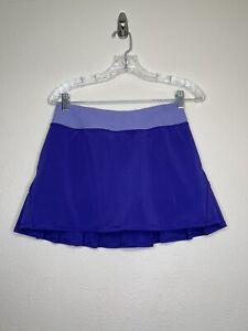 LULULEMON PACE SETTER SKIRT WOMEN'S 4 Purple PLEATED BACK RUN TENNIS  SKORT