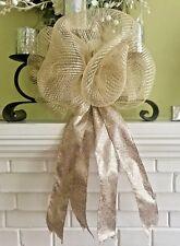 "12"" Leopard Deco Mesh Party Bow Door Wreath Garland Coachlight Mailbox"