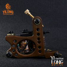 1Pc Copper Frame 12 Wraps Coil Tattoo Machine Handmade Custom Tattoo Gun Supply