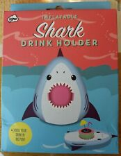 Inflatable Shark Drink Holder - Hilarious Gag Gift - Pool Party Cocktail Floatie