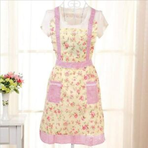 APRON FLORAL PRETTY VINTAGE SHABBY CHIC PEONY ROSES RETRO 1950'S SUGARCRAFT GIFT