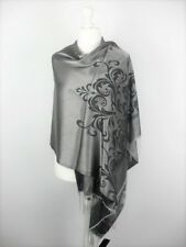Pashmina Schal Tuch Stola Hijab 55% Viskose & 45% Polyacryl Anthrazit 183x70cm