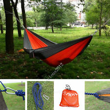 Portable Nylon Fabric Hammock for Double Person Camping Outdoor Parachute