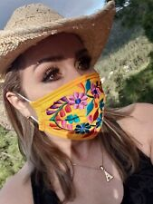 Double layered with filter washable embroidered mask