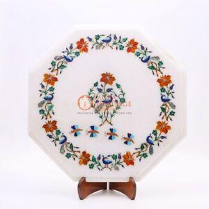 Marble Antique Custom Coffee Table Carnelian Pietradura Floral Inlay Home Decor