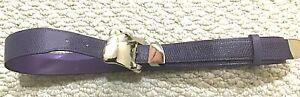 Women's  Purple Lizard  Leather Belt - Free Shipping