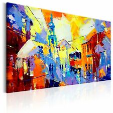 100% Handgemalt – Gemälde / Bilder Leinwand Abstrakt 90x60 d-B-0074-b-a_MK