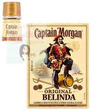 PERSONALISED CAPTAIN MORGANS RUM BOTTLE LABELS EDIBLE ICING CAKE TOPPER SET