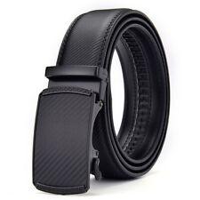 Mens Genuine Leather Belt Belts New Real Sliding Buckle Trouser Black Brown Tan