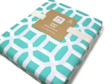 Pottery Barn Teen Multi Colors Aqua Pool Peyton Cotton King Duvet Cover New