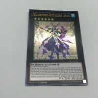YuGiOh! Full Armored Crystalzero Lancer DUSA-EN007 Ultra Rare 1st Edition NM