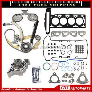 Head Gasket Set Timing Chain Water Pump Kit Fits 02-06 Chevrolet Saturn 2.2L