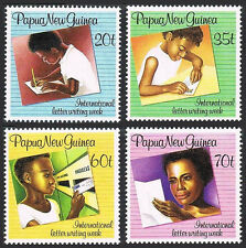 Papua New Guinea 707-710, MNH. Intl. Letter Writing Week, 1989