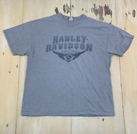 HARLEY DAVIDSON - Vtg 2006 Blue Hanes Beefy T-shirt, Mens XL - MUST SEE!