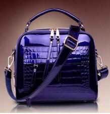 Womens Patent Leather Handbag Shoulder Crossbody Bag Dating Shopping Purses sz
