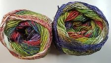 Noro Silk Garden Sock Yarn #S424 Purple Green Fawn & Orange Mix 100g