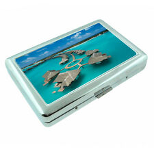 Fiji Islands D2 Silver Metal Cigarette Case RFID Protection Wallet Tropical